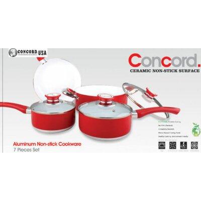7 Piece Ceramic Non-stick Cookware Set by Concord