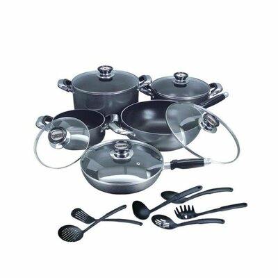 16 Piece Complete Nonstick Cookware Set by Concord
