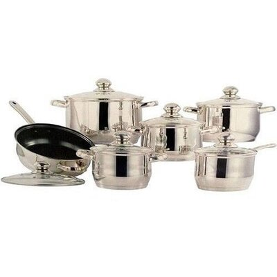 5-Layered Bottom 12 Piece Cookware Set by Concord