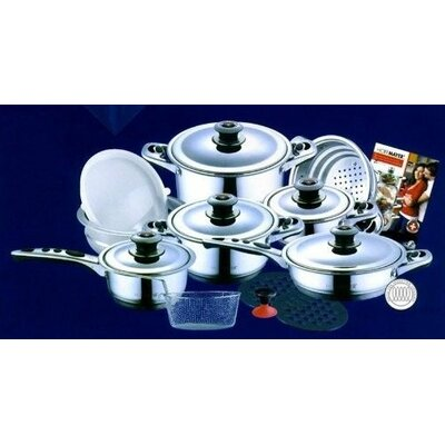 19-Piece Hoffmayer Premium Surgical Stainless Steel Cookware Set by Concord