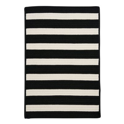 Colonial Mills Stripe It Black & White Indoor/Outdoor Area Rug Rug TR89R