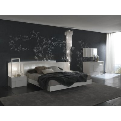 Rossetto USA Nightfly Platform Customizable Bedroom Set
