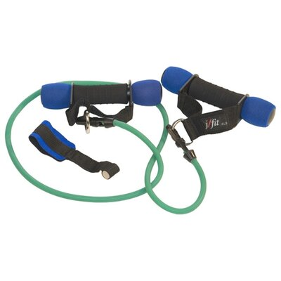 J Fit 6 lbs Heavy Handles with Medium Resistance Tubing