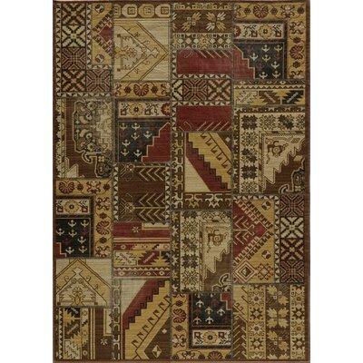 Vintage Gold Tribal Patchwork Rug by Momeni