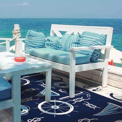 Nautical Blue/Beige Indoor/Outdoor Area Rug