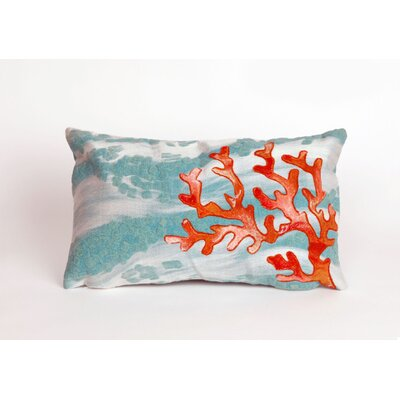 Visions III Coral Wave Lumbar Pillow by Trans Ocean