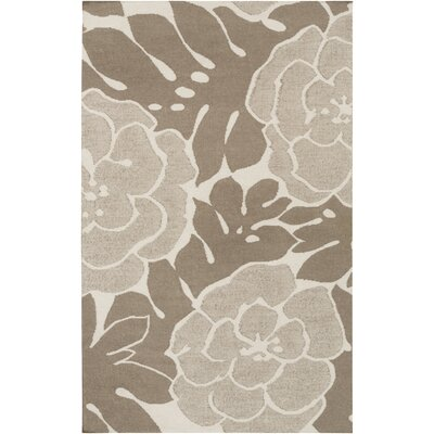 Paddington Brown Floral Area Rug by Surya