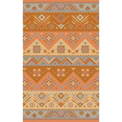 Jewel Tone Burnt Orange Southwest Rug by Surya