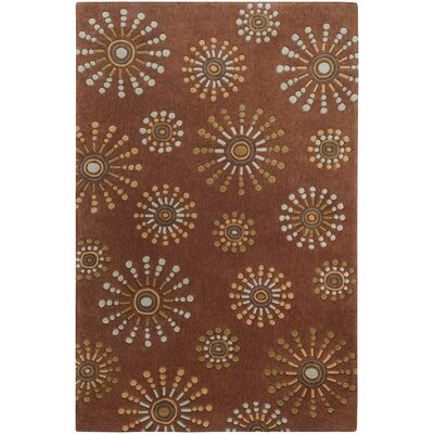Cosmopolitan Brown Floral Rug by Surya
