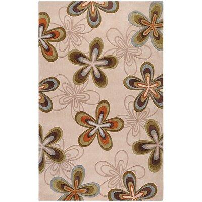Cosmopolitan Beige Floral Rug by Surya