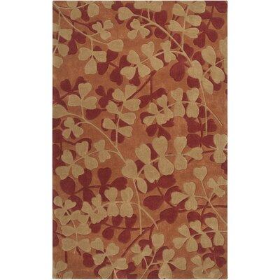 Cosmopolitan Gold/Rust Floral Rug by Surya