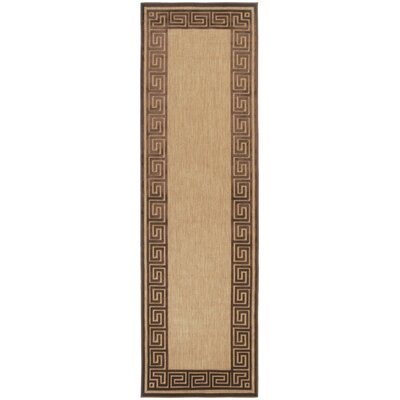 Portera Natural/Chocolate Outdoor Rug by Surya