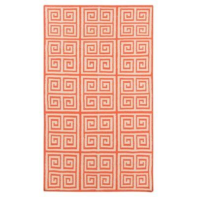 Surya Frontier Poppy Red Geometric Area Rug