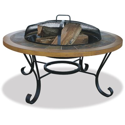 Slate Tile / Faux Wood Outdoor Fire Pit by Uniflame
