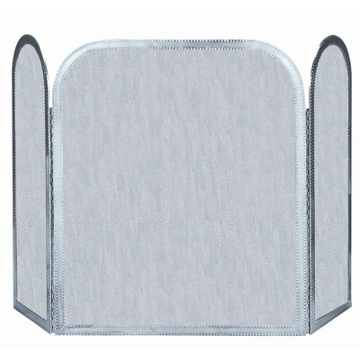 Uniflame Corporation 3 Panel Pewter Fireplace Screen