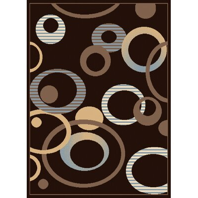 Dallas Hip Hop Chocolate Area Rug by United Weavers of America