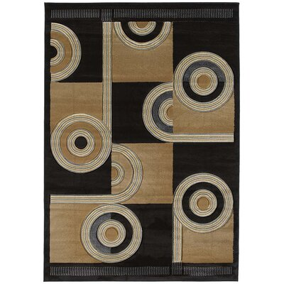 Contours Spiral Canvas Chocolate Rug by United Weavers of America