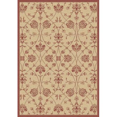Dynamic Rugs Piazza Light Orange/Red Indoor/Outdoor Area Rug