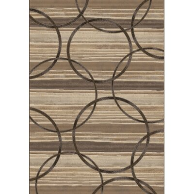 Dynamic Rugs Eclipse Brown Circles Area Rug