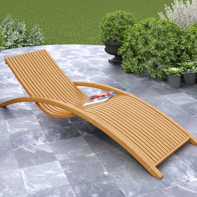 Wood Canyon Chaise Lounge by dCOR design