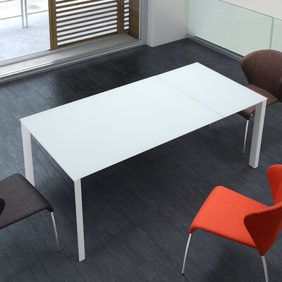 Extension Dining Table White by dCOR design