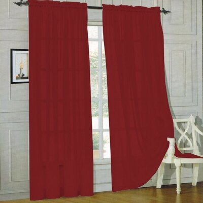 Sheer Voile Curtain Panels (Set of 2) Product Photo