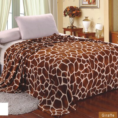 Giraffe Super Soft plush Throw Blanket by Sweet Home Collection