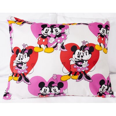 Disney Mickey Minnie Mouse Hearts Polyester Standard Pillow by Sweet Home Collection