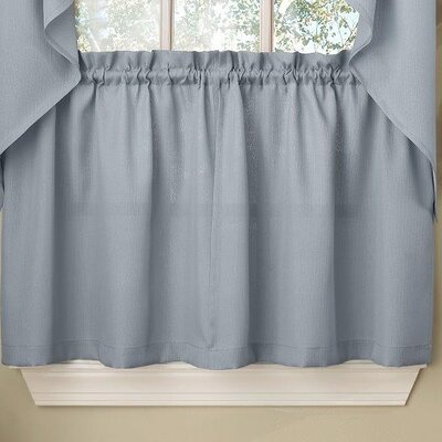 Opaque Ribcord Kitchen Tier Curtain (Set of 2) Product Photo