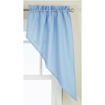 "Opaque Ribcord Swag 27"" Curtain Valance (Set of 2) Product Photo"