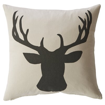 Stag Silhouette Pillow by Mercury Row
