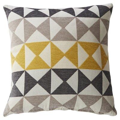 Yellow Triangle Print Throw Pillow by Mercury Row
