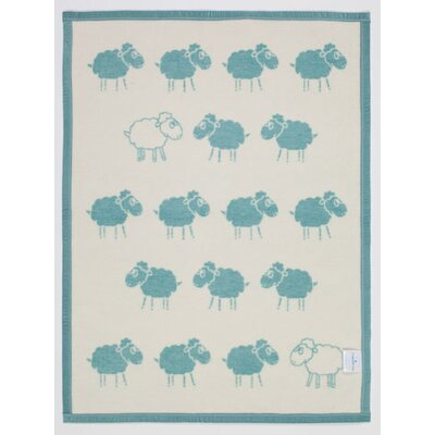 Counting Sheep Mini Reversible Cotton Throw Blanket by ChappyWrap