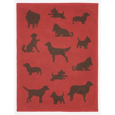 Bow Wow Dogs Mini Reversible Cotton Throw Blanket by ChappyWrap