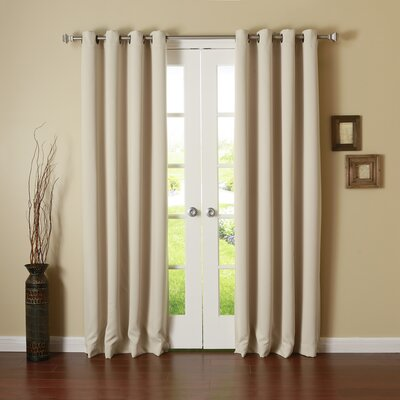 Solid Grommet Top Thermal Insulated Blackout Curtain Panels (Set of 2) Product Photo