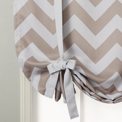 Chevron Print Room Darkening Tie-Up Shade Product Photo