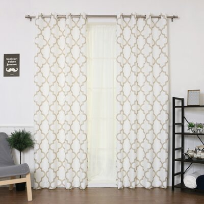 Oxford Basketweave Curtain Panel (Set of 2) Product Photo