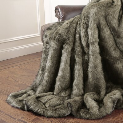 Wild Mannered Tawny Fox Faux Fur Throw Blanket Amp Reviews