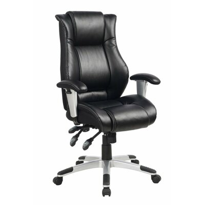 Ergonomic High-Back Leather Executive Chair with Side Waist Support and Excellent Lumbar ...