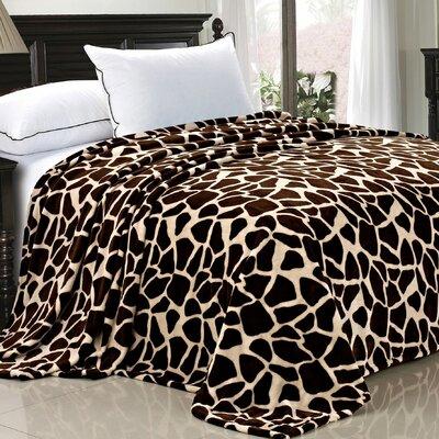 Safari Flannel Fleece Blanket by BNF Home
