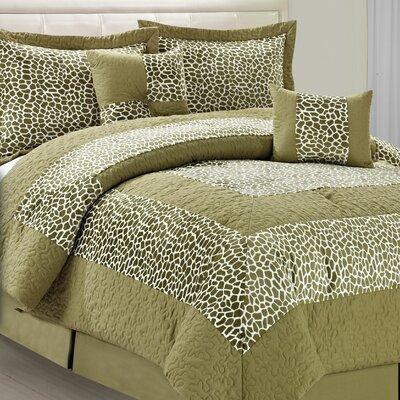 Safari Green Giraffe 6 Piece Comforter Set by BNF Home