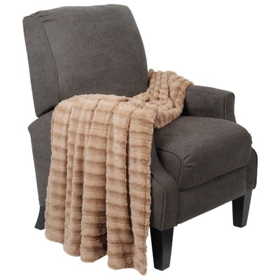 Derby Double Sided Faux Fur Throw Blanket by BNF Home