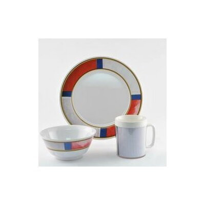 Decorated Life Preserver 18 Piece Dinnerware Gift Set by Galleyware Company