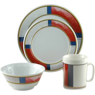 Decorated Life Preserver 16 Piece Dinnerware Gift Set by Galleyware Company