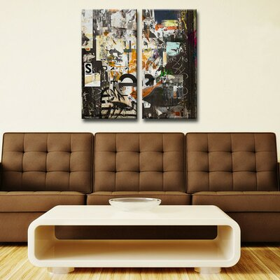 Abstract ABS III Graphic Art on Wrapped Canvas by Ready2hangart