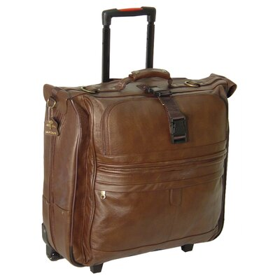 Leather Rolling Garment Bag by AmeriLeather