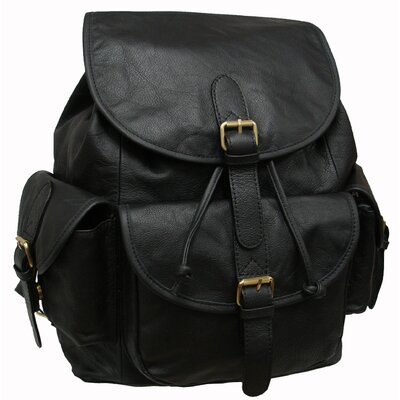 Urban Buckle Flap Backpack by AmeriLeather