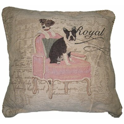 Royal Dog Woven Cushion Cover by DaDa Bedding