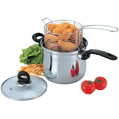 3-Piece Deep Frying Pan Set with Lid by Culinary Edge