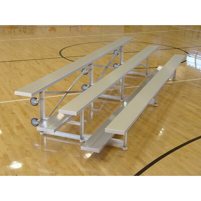 3 Row Tip and Roll Aluminum Bleachers Bench by Highland Products